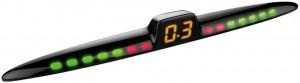 LED zaslon za parkirne senzorje s prikazom razdalje