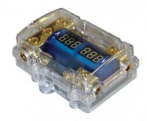 Ohišje za dve mini-ANL varovalki z voltmetrom