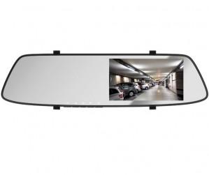 """Vzvratno ogledalo z 5"""" monitorjem in dvema kamerama"""